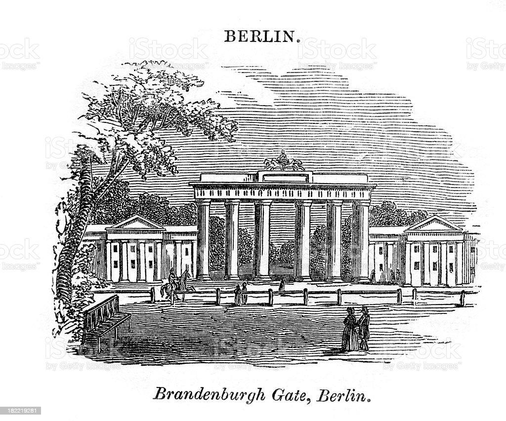 Brandenburg Gate Berlin royalty-free stock vector art