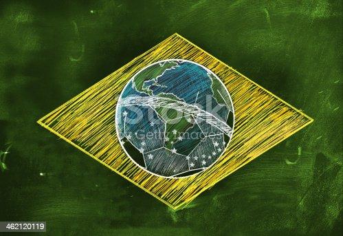 istock Brasil Flag Sketch Soccer Edition 462120119
