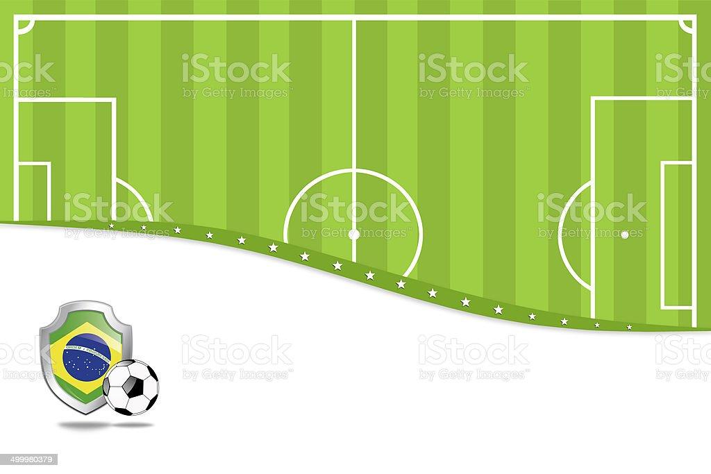 ブラジルサッカーの背景。 ベクターアートイラスト