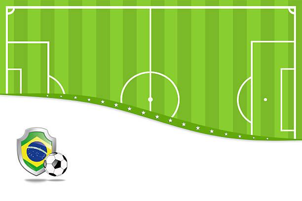 ブラジルサッカーの背景。 - グランドオープン点のイラスト素材/クリップアート素材/マンガ素材/アイコン素材