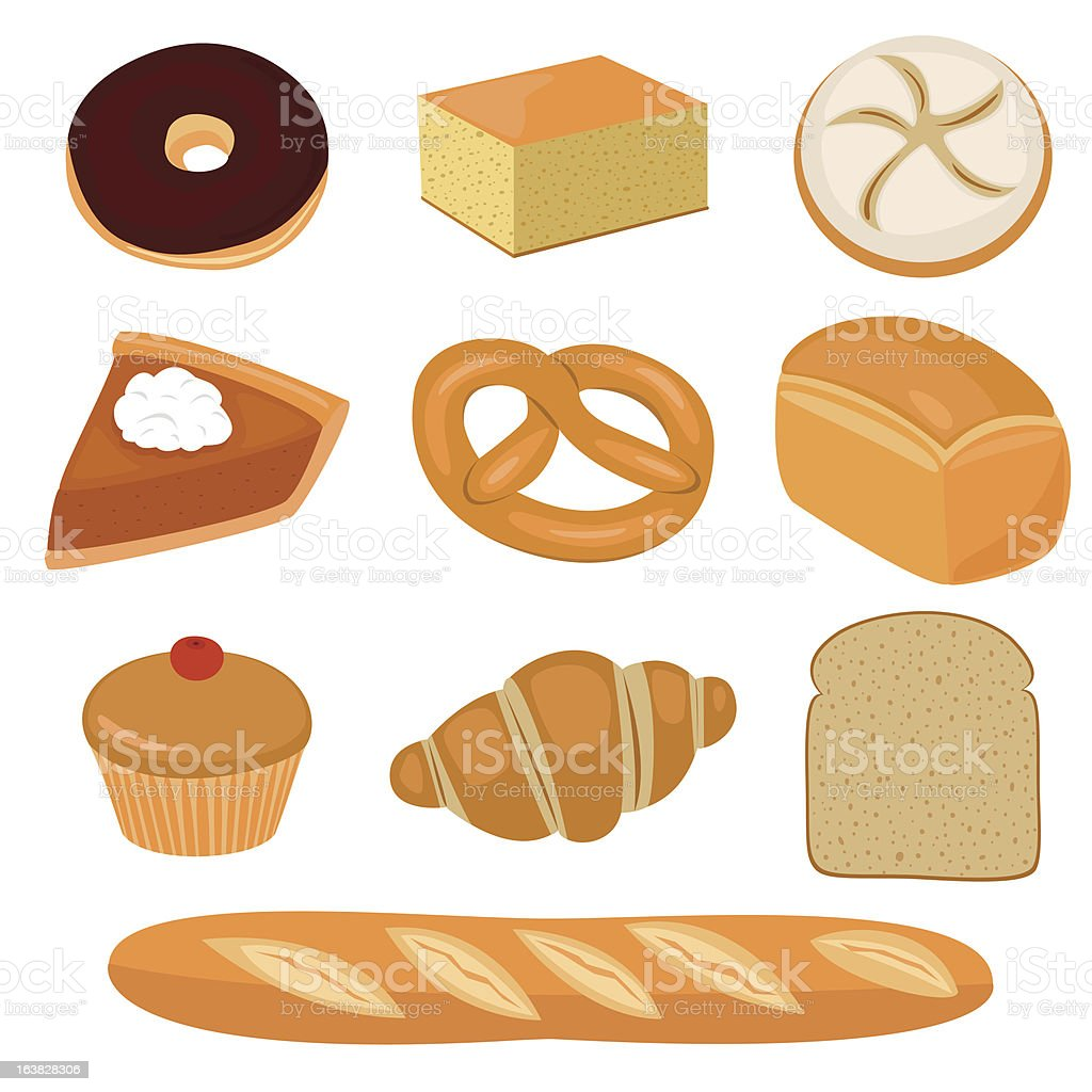 Bread and pastry clip-art royalty-free stock vector art