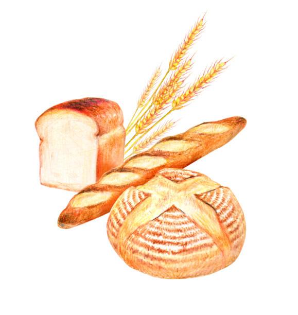 パン  - 食パン点のイラスト素材/クリップアート素材/マンガ素材/アイコン素材