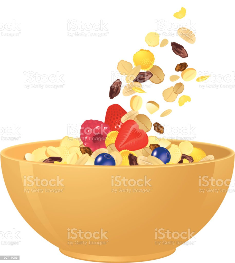 Breakfast Cereal vector art illustration