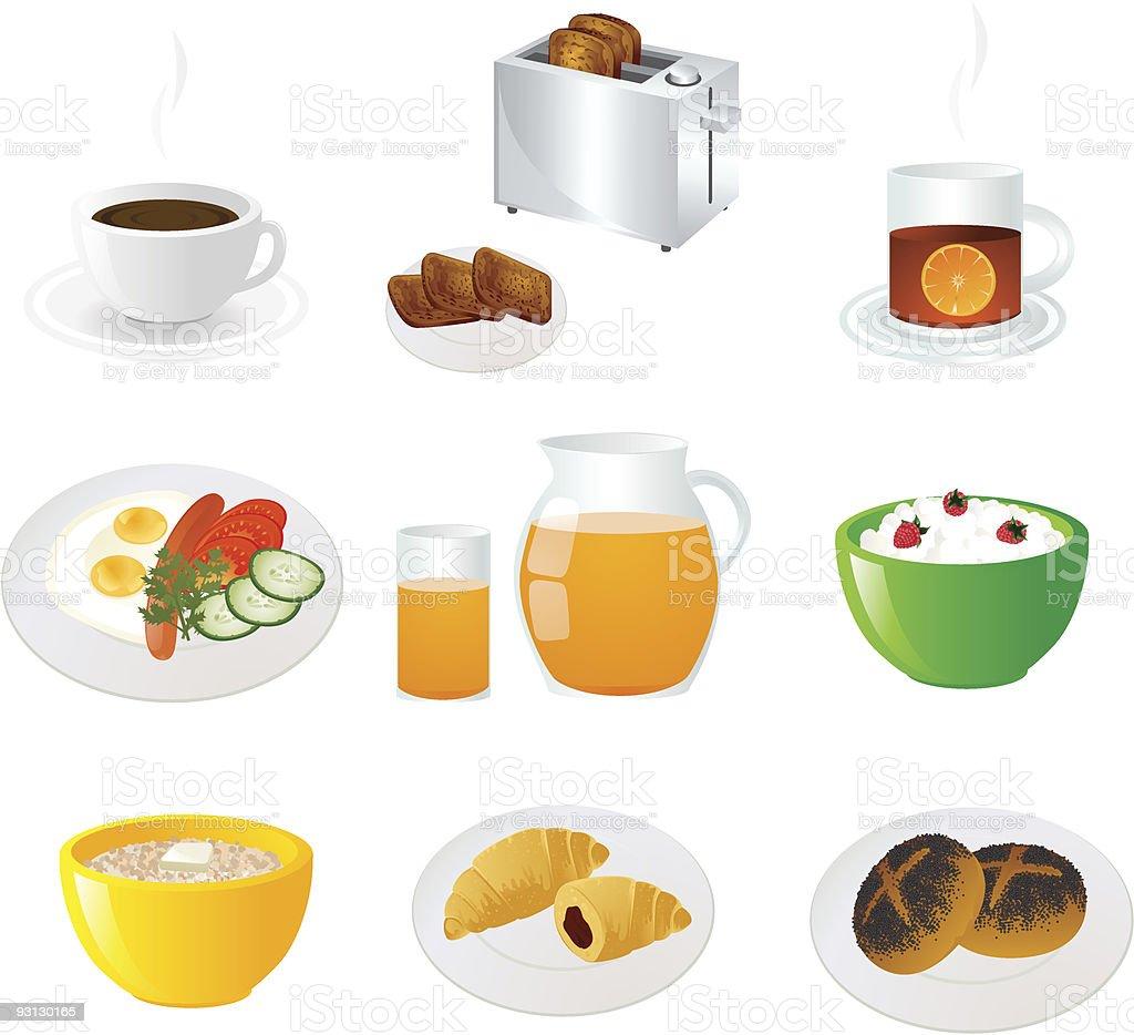 Breakfast icon set. royalty-free stock vector art