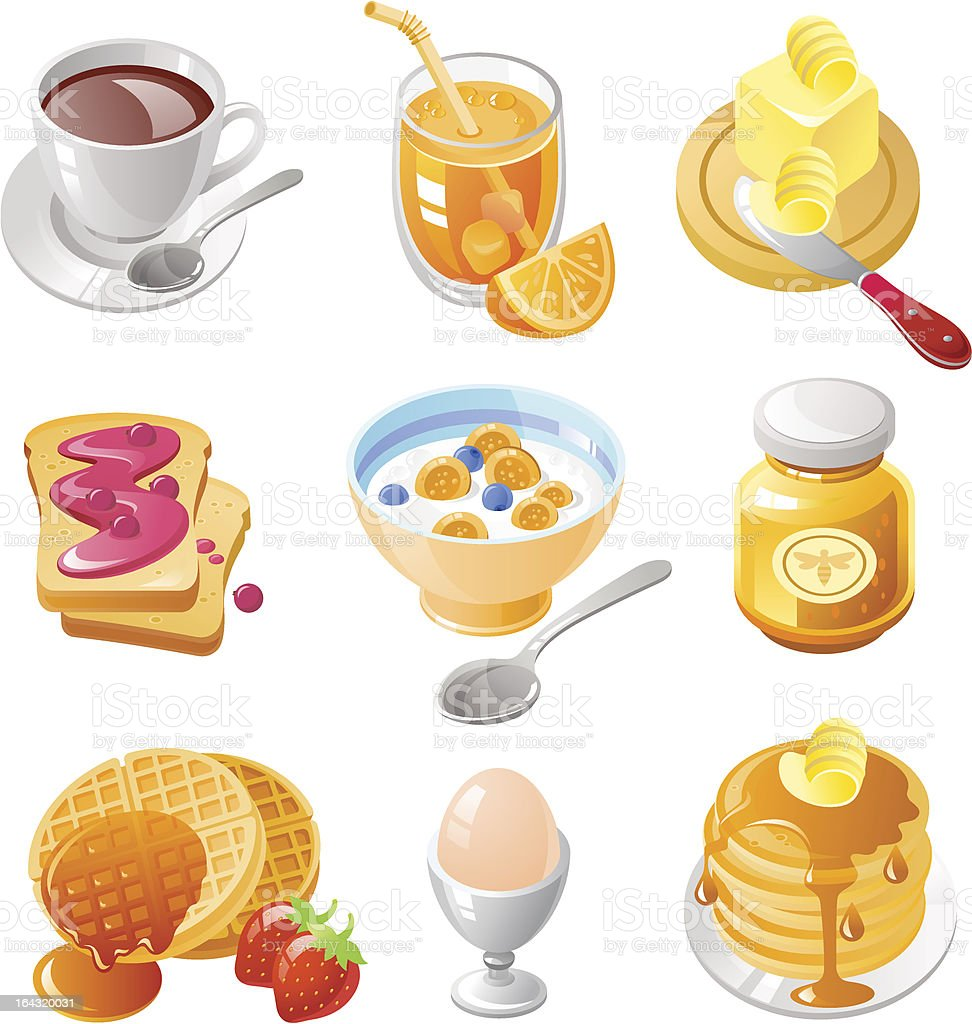 Breakfast with Pancakes royalty-free breakfast with pancakes stock vector art & more images of apple - fruit