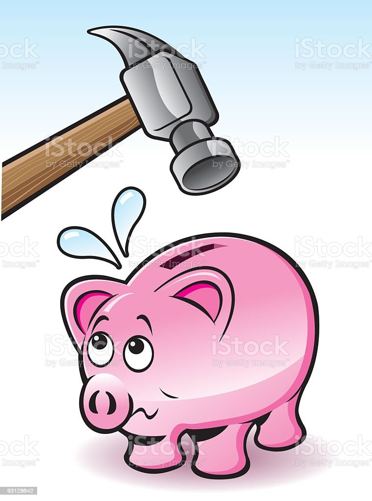 Breaking the Bank royalty-free breaking the bank stock vector art & more images of animal