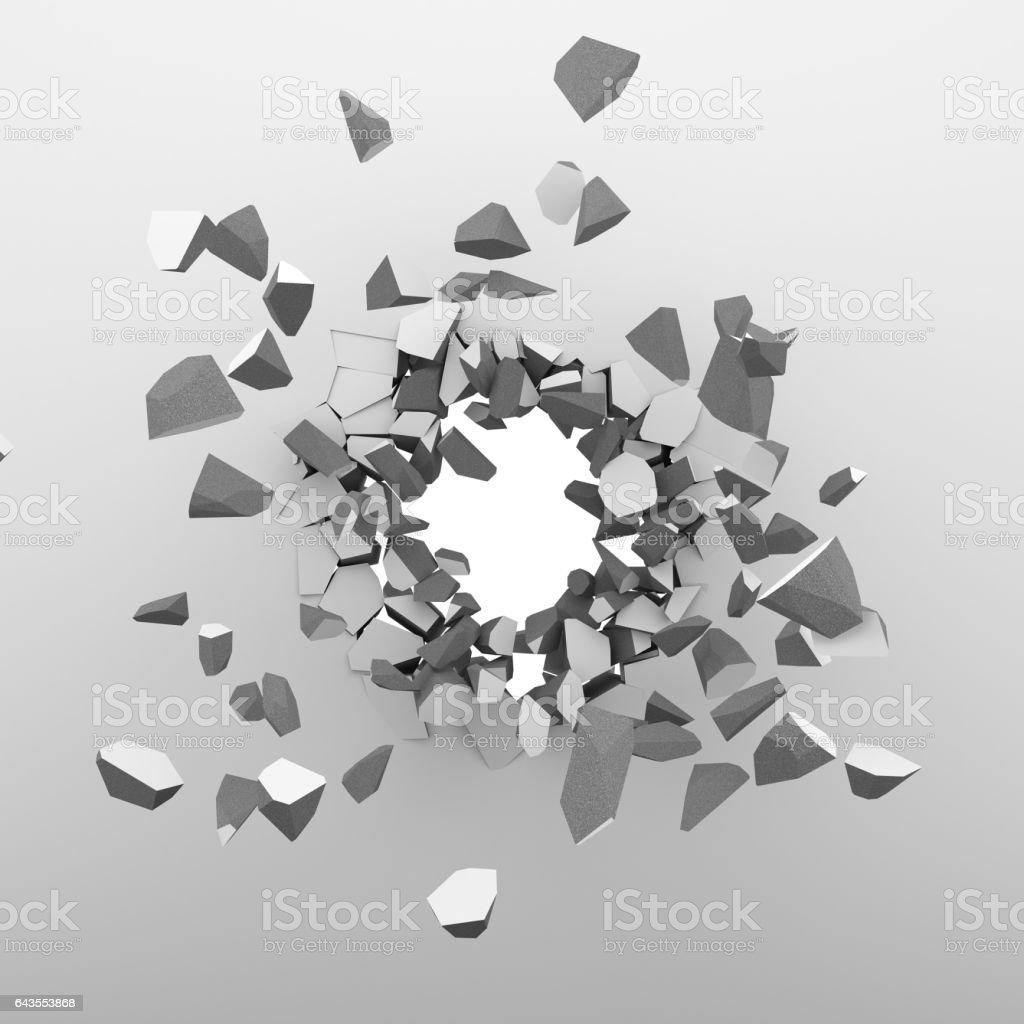 Breaking through the white wall - ilustración de arte vectorial
