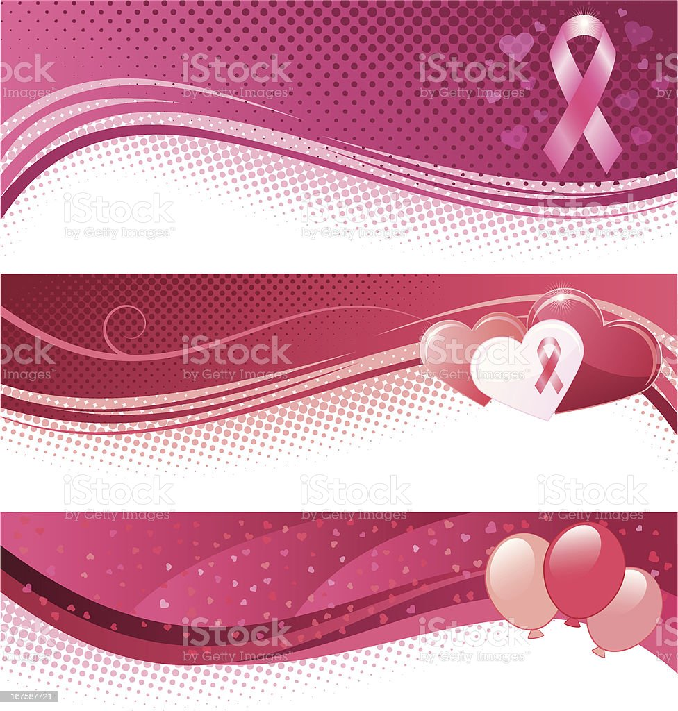 Breast cancer awareness banners royalty-free stock vector art