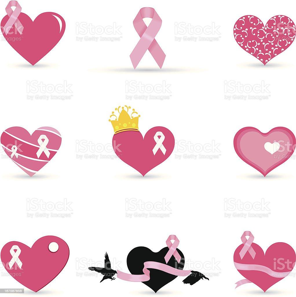 Breast Cancer Ribbon vector art illustration