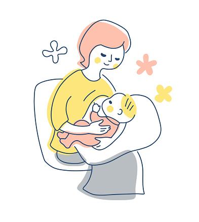 Breastfeeding mom