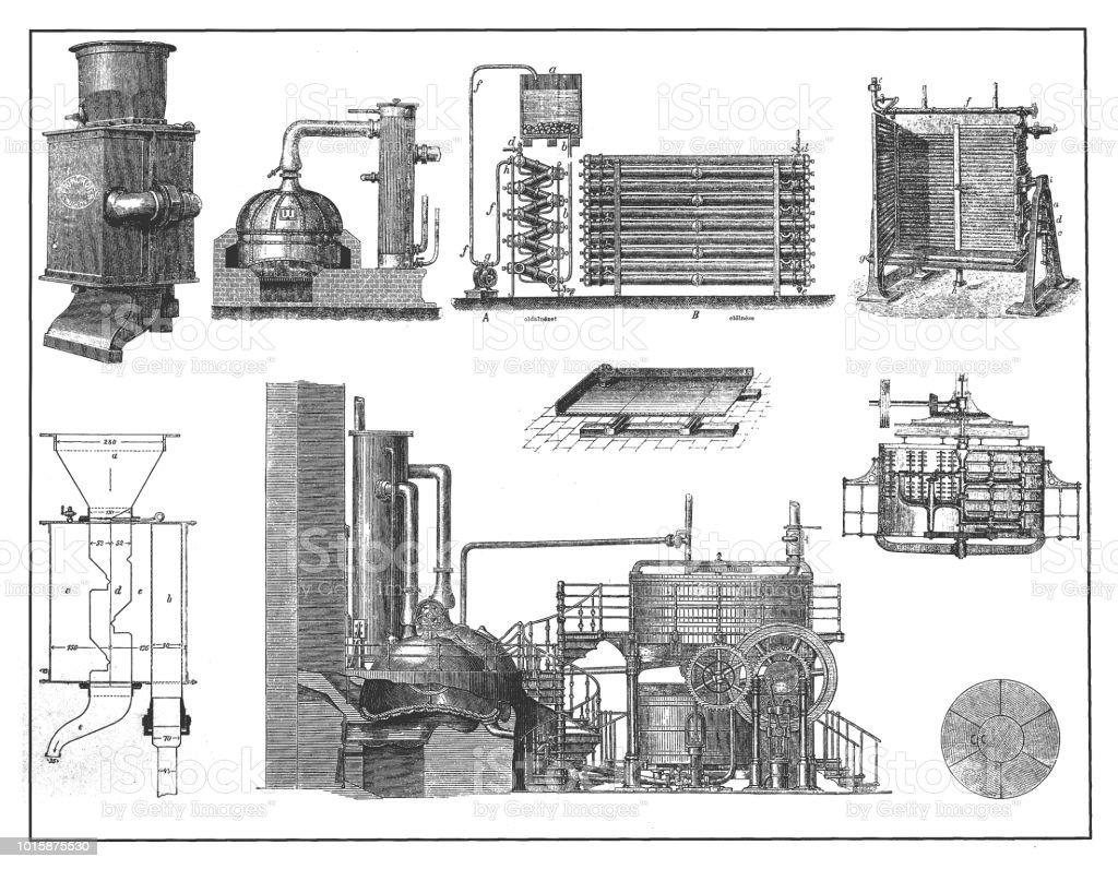 Brewing industry ,, technical equipment vector art illustration