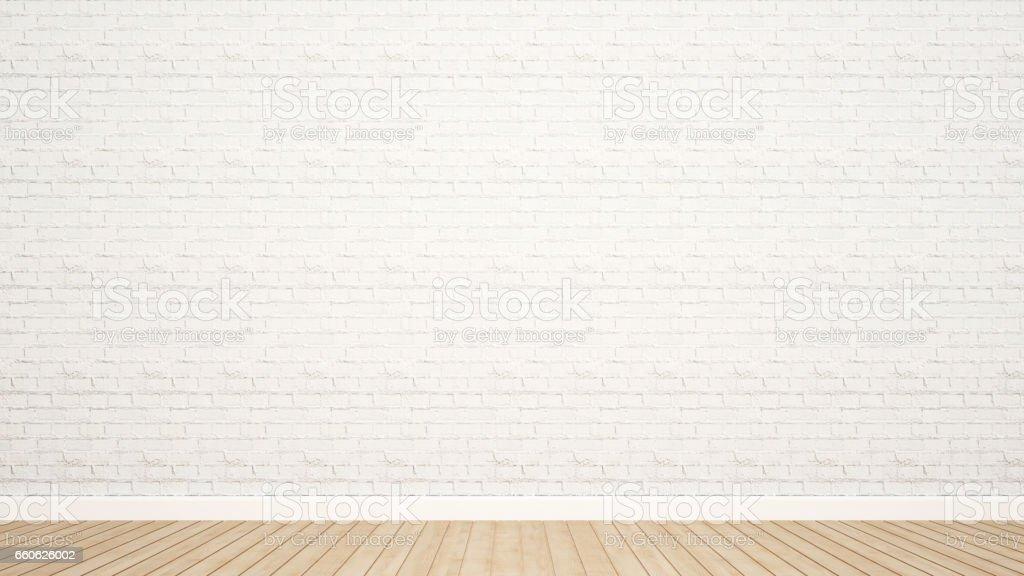 sol bois et mur de briques dans la salle d'oeuvres d'art - Illustration vectorielle