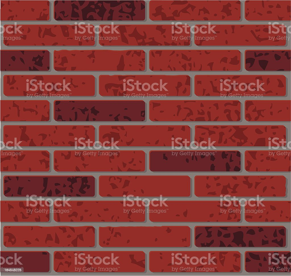 Bricks - Two dark red colours royalty-free stock vector art