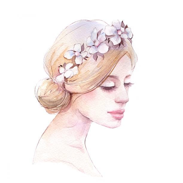 Wedding Hairstyles Drawing: Royalty Free Bridal Hair Clip Art, Vector Images