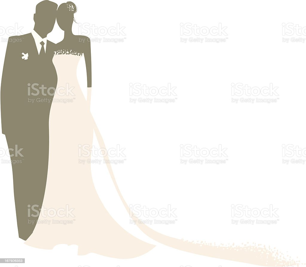 Bride & Groom royalty-free stock vector art