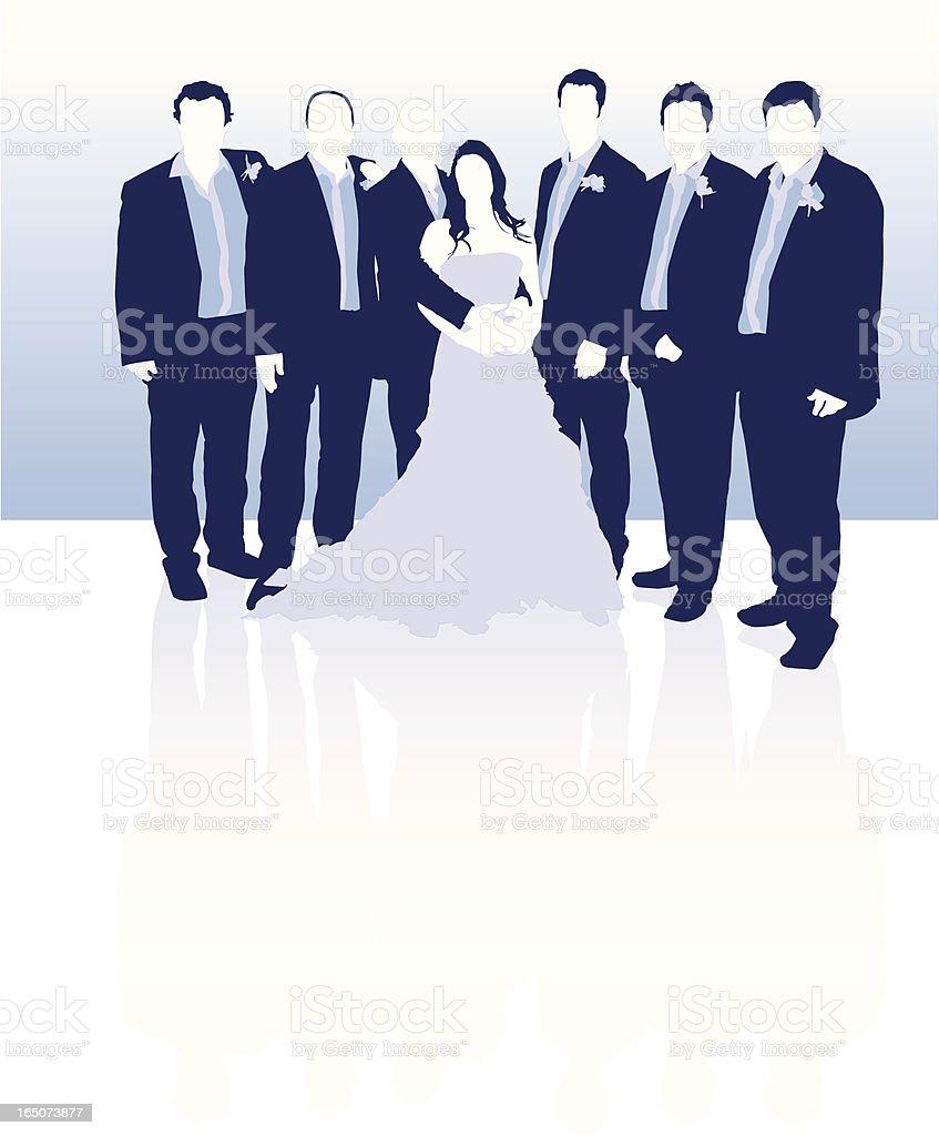 Bride, Groom & Ushers royalty-free bride groom ushers stock vector art & more images of adult