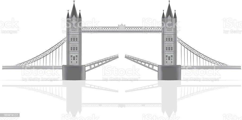 Bridge vector illustration vector art illustration