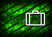 Briefcase icon isolated on parallel natural green background illustration