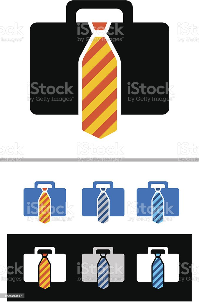 briefcases icon set royalty-free stock vector art