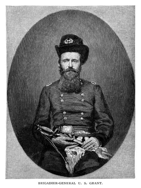 ilustrações, clipart, desenhos animados e ícones de brigadeiro-general ulysses simpson grant - brigadeiro