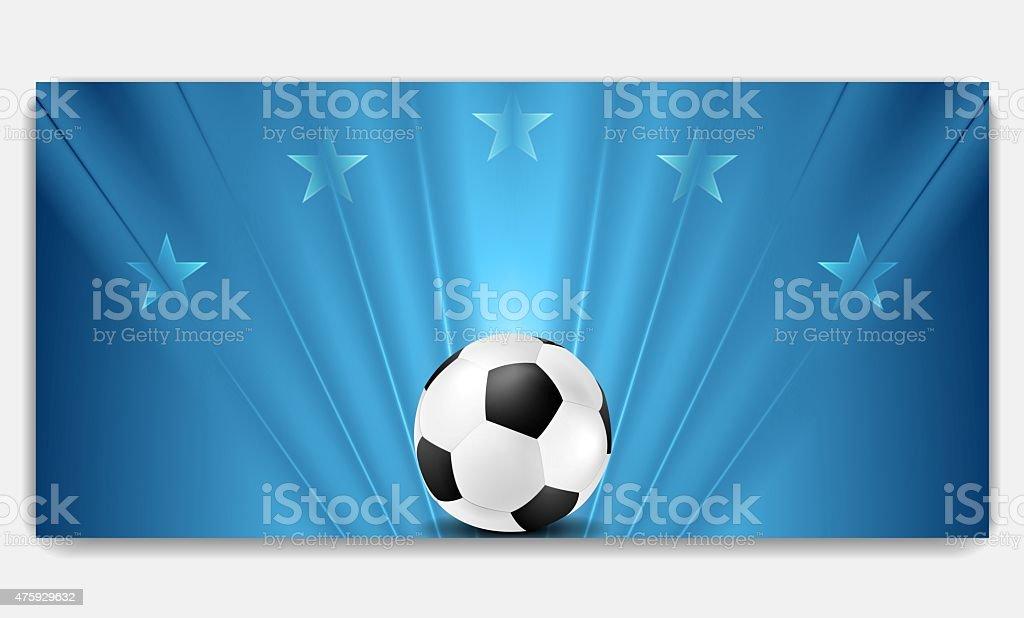 Bright abstract blue soccer background vector art illustration