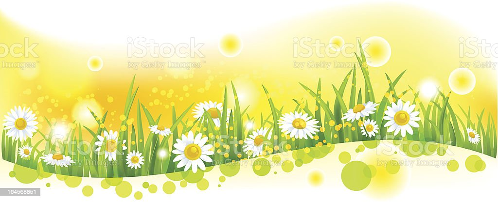 Bright flower background royalty-free stock vector art