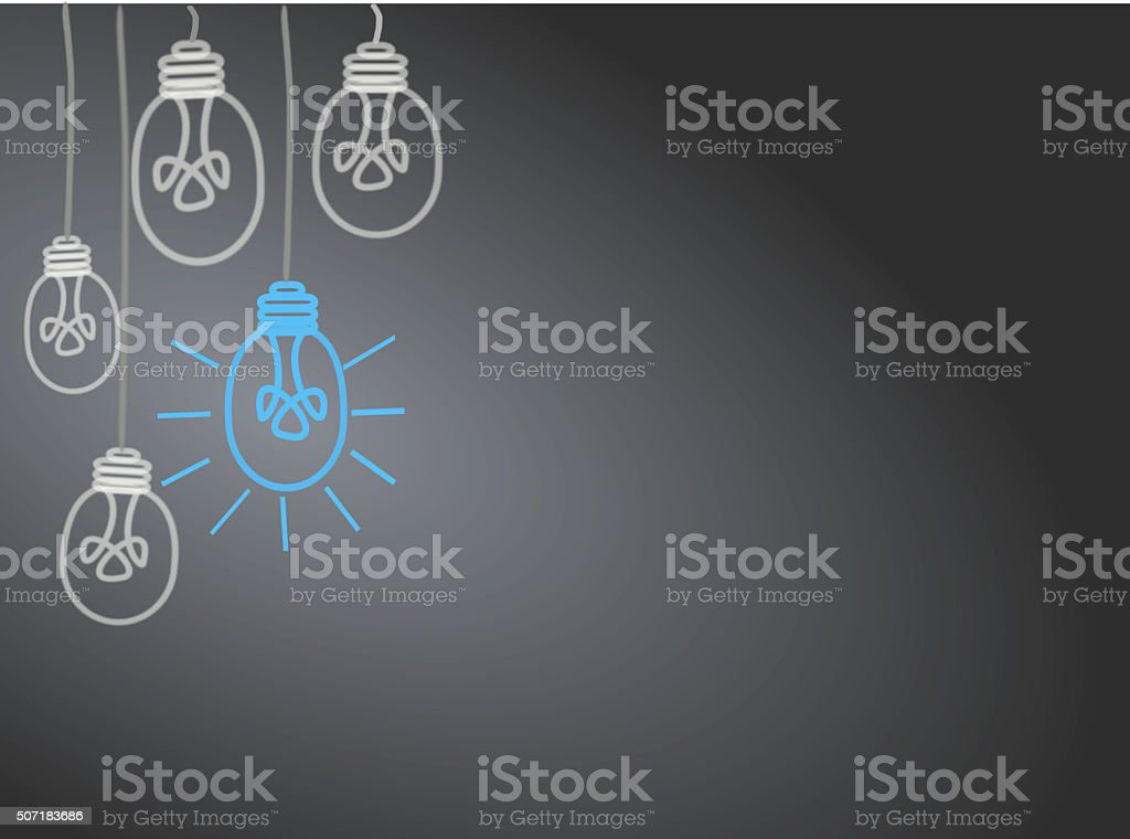 Bright Ideas vector art illustration