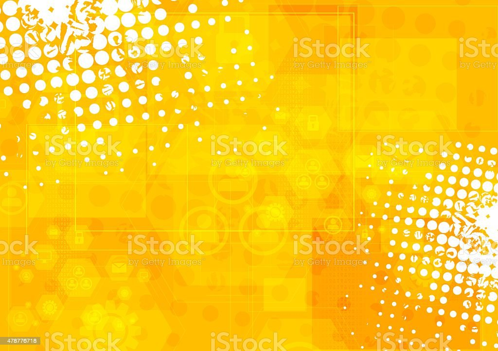 Bright orange grunge tech background vector art illustration