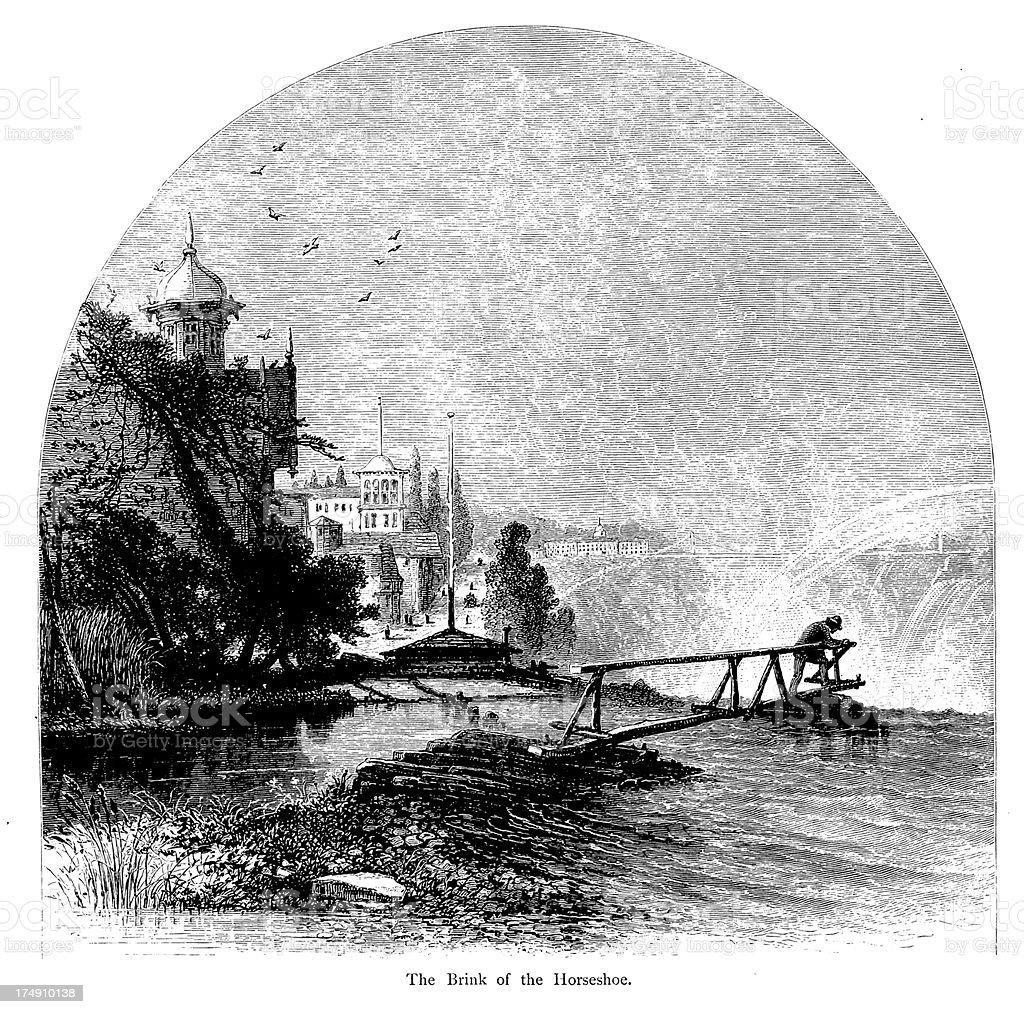 Brink of the Horseshoe, Lake Ontario vector art illustration