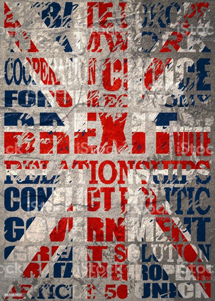 Britain exit from European Union. vector art illustration
