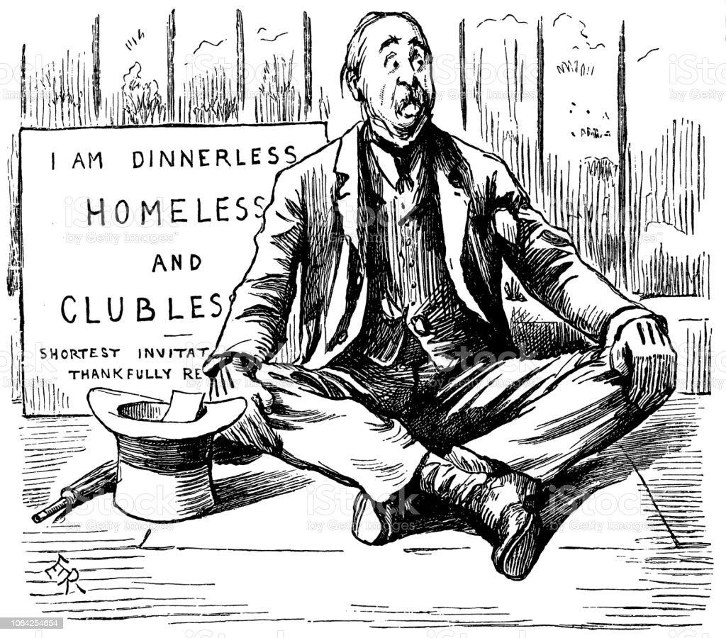 British London Satire Caricatures Comics Cartoon Illustrations