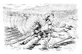 British London satire caricatures comics cartoon illustrations: Mummies attack