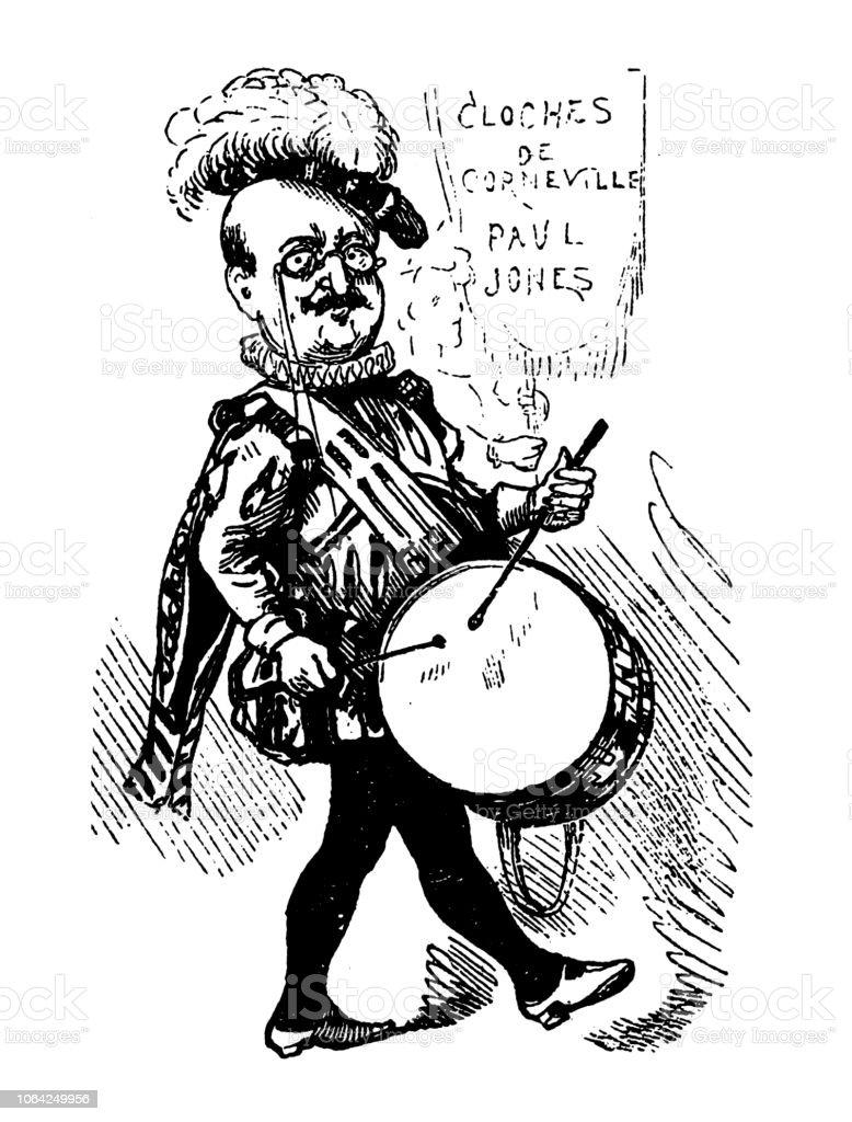 Britische London Satire Karikiert Comic Cartoon Illustrationen