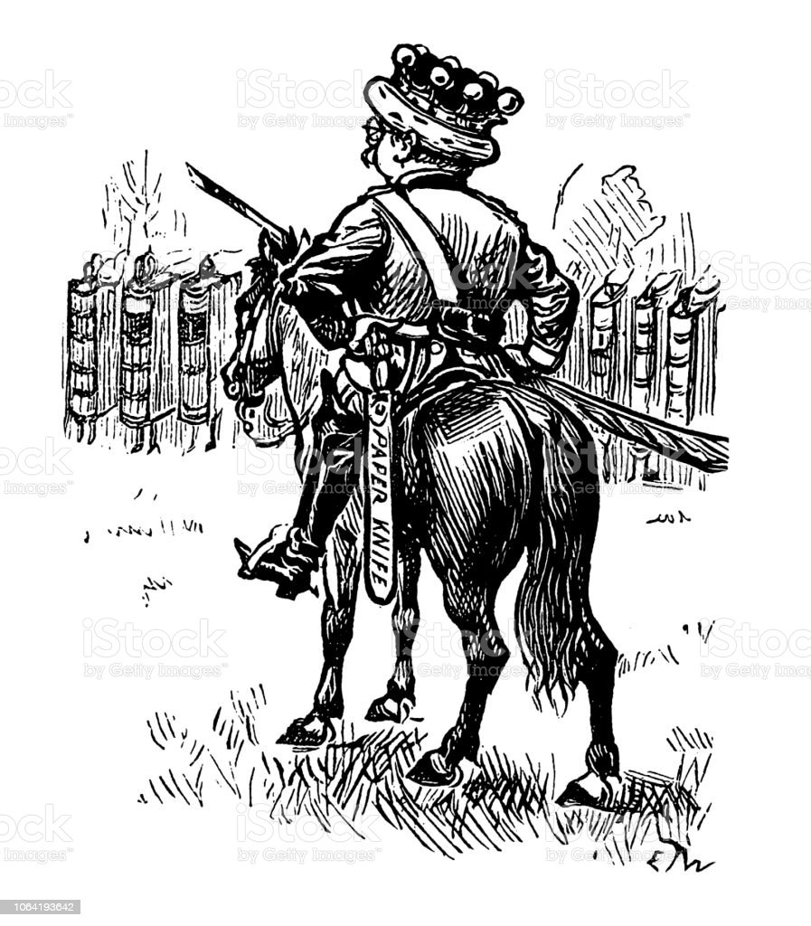 British London Satire Caricatures Comics Cartoon Illustrations King On Horse Stock Illustration Download Image Now Istock
