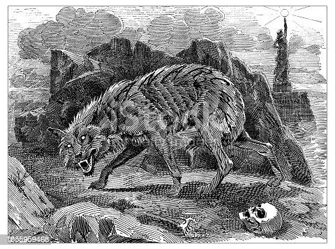 British London satire caricatures comics cartoon illustrations: Werewolf of Anarchy
