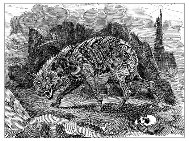British London satire caricatures comics cartoon illustrations: Werewolf of Anarchy British London satire caricatures comics cartoon illustrations: Werewolf of Anarchy werewolf stock illustrations