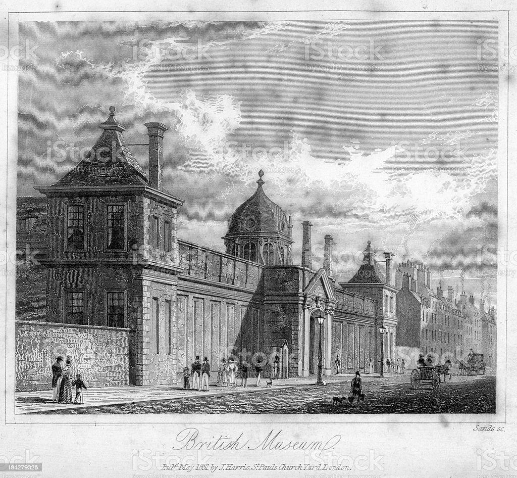British Museum royalty-free stock vector art