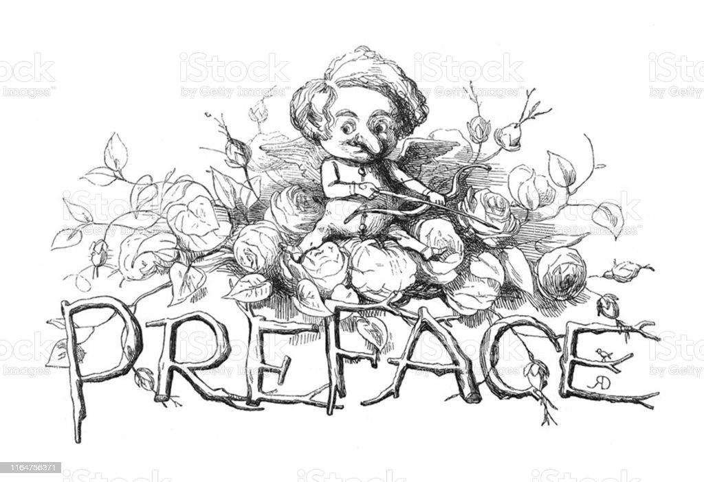 British Satire Comic Cartoon Caricatures Illustrations Cupid With