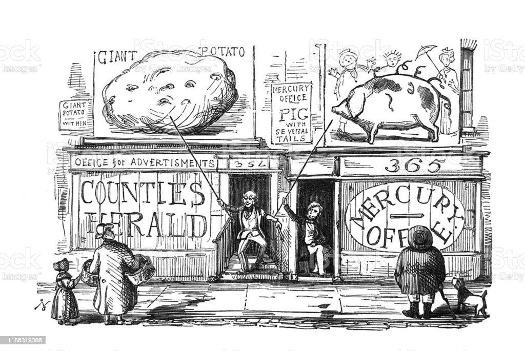 British Satire Comic Cartoon Caricatures Illustrations Newspaper