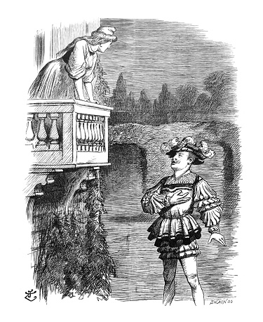 British Satire Comic Cartoon Caricatures Illustrations Romeo And