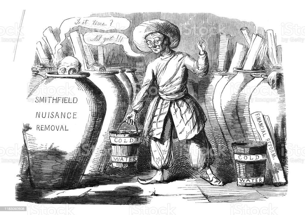 British Satire Comic Cartoon Caricatures Illustrations The