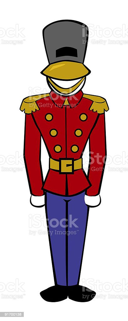 British Soldier Toy or Real royalty-free stock vector art