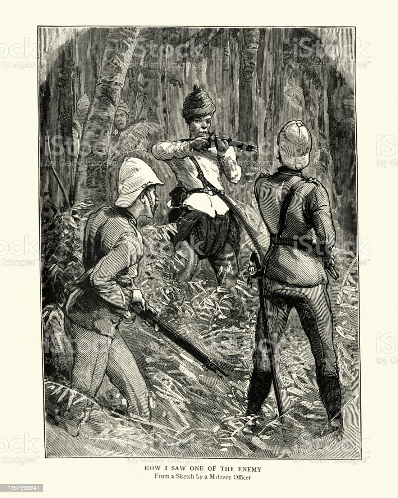British Soldiers Fighting In The Jungle During The Third