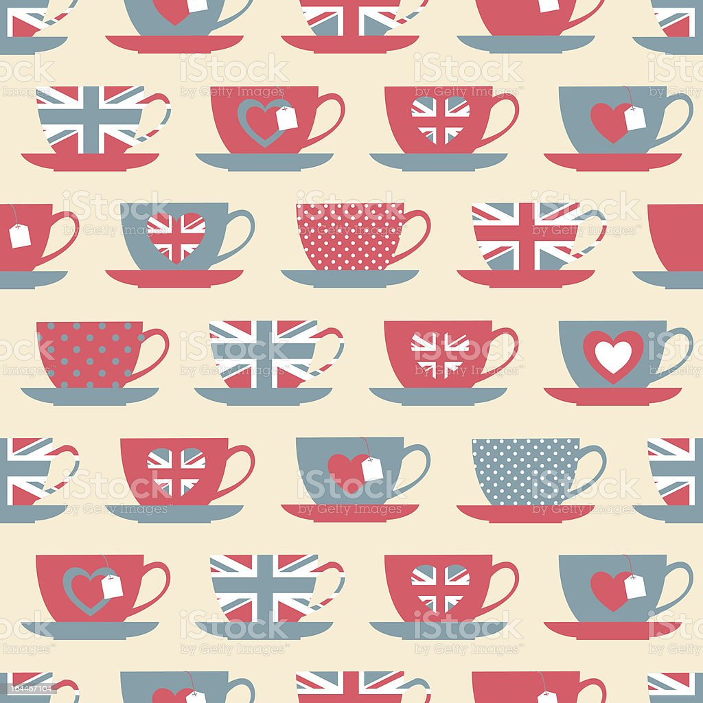 British Teatime Background royalty-free stock vector art