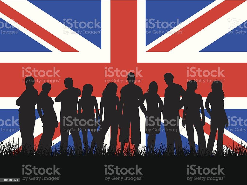 British youth royalty-free stock vector art