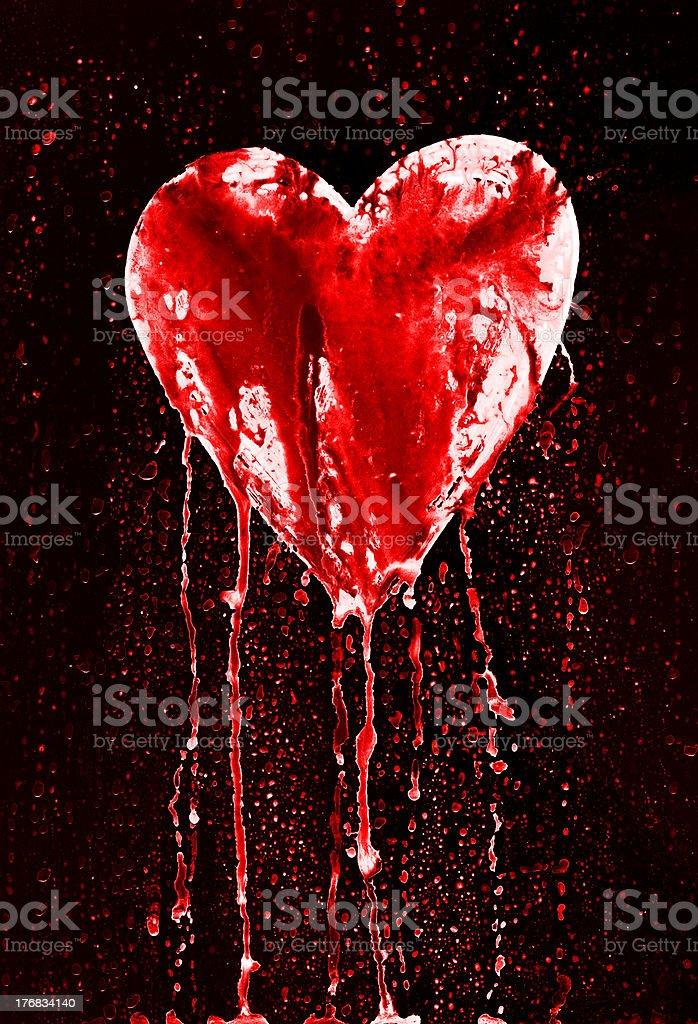 Ilustración De Y Sangrado Corazón Roto Y Más Vectores Libres De