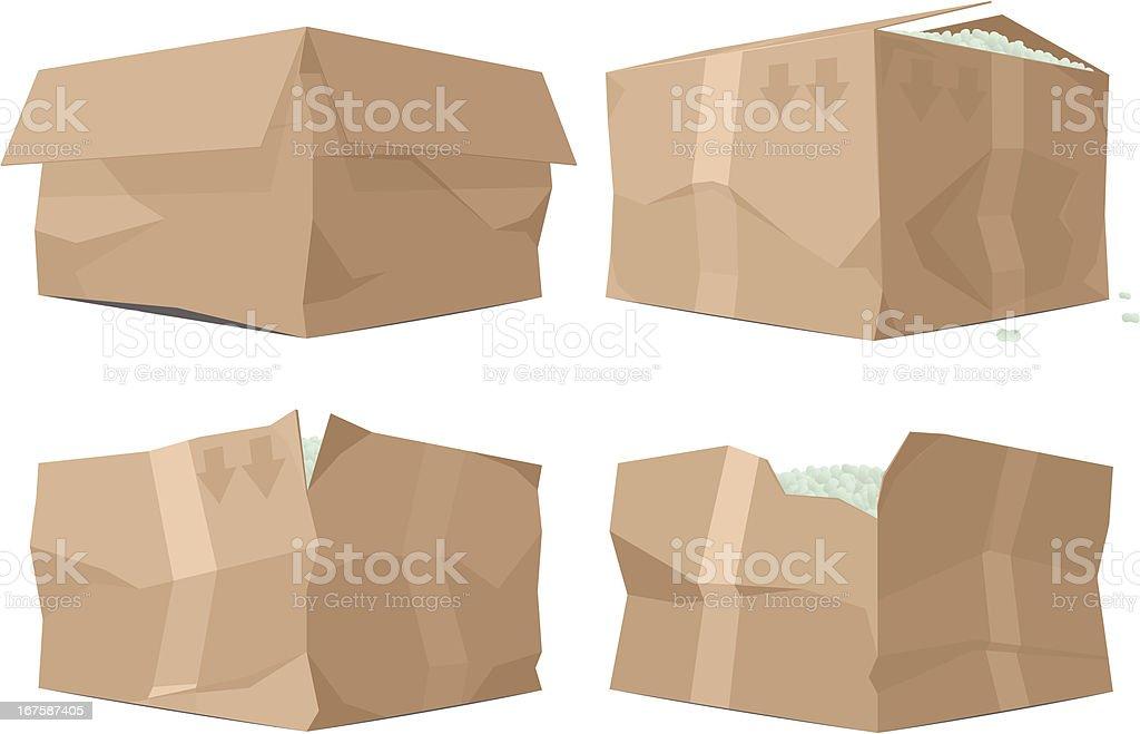 Broken Boxes vector art illustration