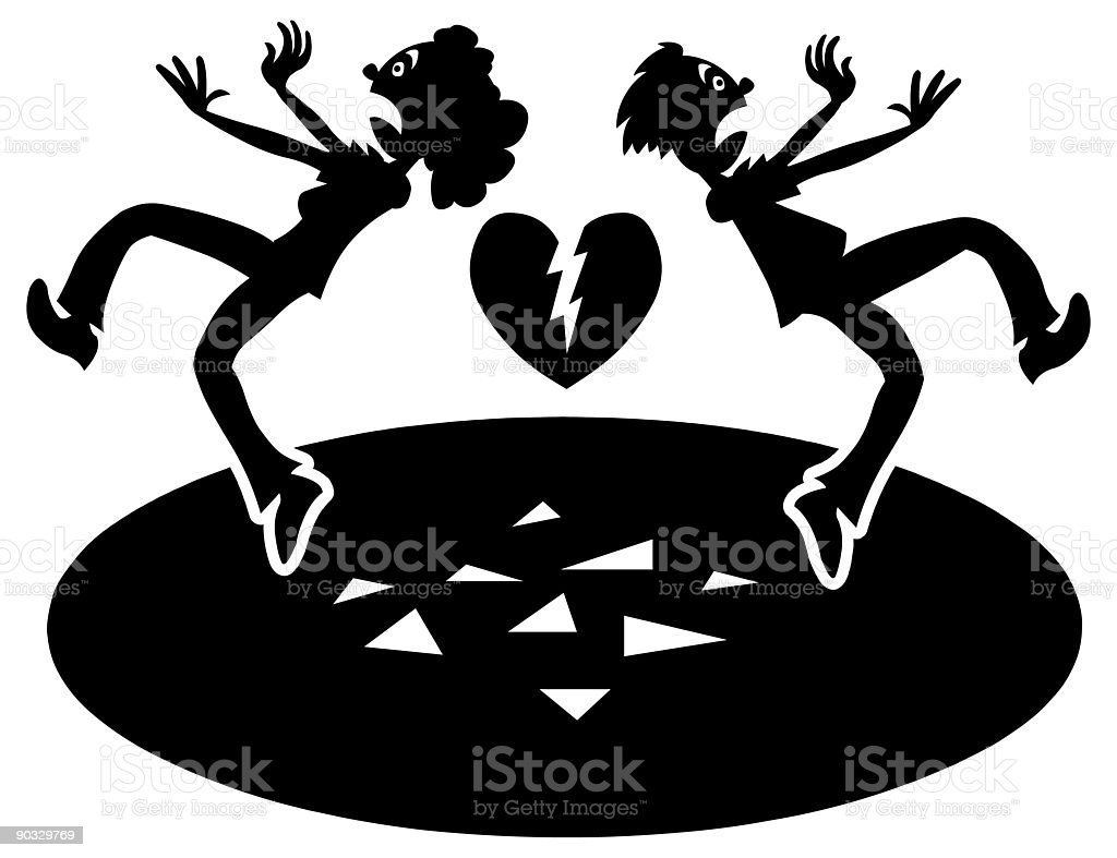 Broken Hearts 1 royalty-free stock vector art