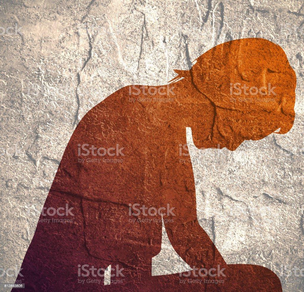 Broken love. Human emotions vector art illustration