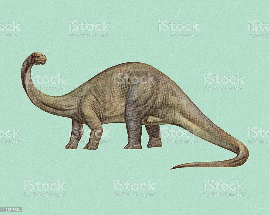 Brontosaurus ベクターアートイラスト